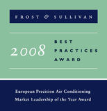 Emerson Network Power erhält den European Precision Air Conditioning Market Leadership 2008 Award von Frost&Sullivan