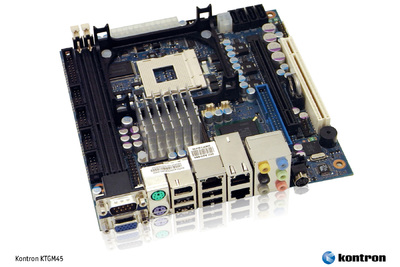 Kontron KTGM45: Drei neue Embedded Motherboards mit 45 nm Intel Core2 Duo Performance