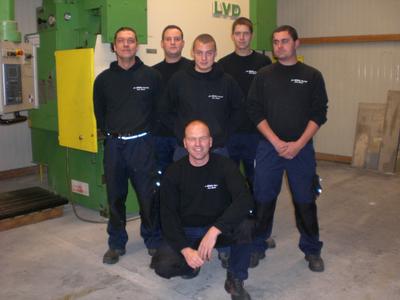 Jungunternehmer Björn Höchst (vorne) mit seinem Team
