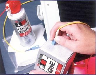 Anwendung QbE Reinigungstücher