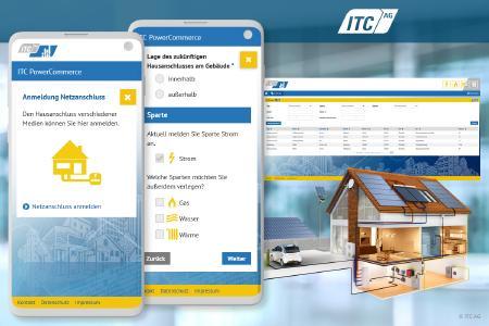 Mit dem neuen ITC-Netzanschluss-Portal können Standard-Hausanschlüsse sowie anmeldepflichtige Geräte und Erzeugeranlagen ganz unkompliziert online beantragt und bearbeitet werden. Das ITC-Netzanschluss-Portal ist eine als White-Label-Lösung für Netzbetreiber, Netzgesellschaften und Stadtwerke.
