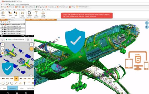 Communication of large designs, fast & secure, using Kisters 3DViewStation