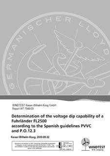 W2E-turbines fulfill the requirements of Spanish gridcodes