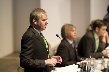 Der stellvertretende iGZ-Bundesvorsitzende Holger Piening stellte den neuen Tarifvertrag vor