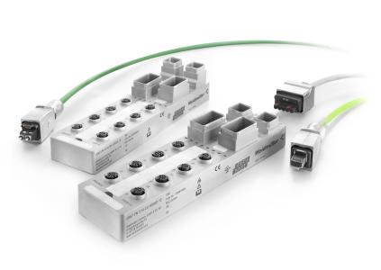 Weidmüller u-mation: u-remote I/O modules in IP67 protection class with PushPull plug-in connector for copper and POF