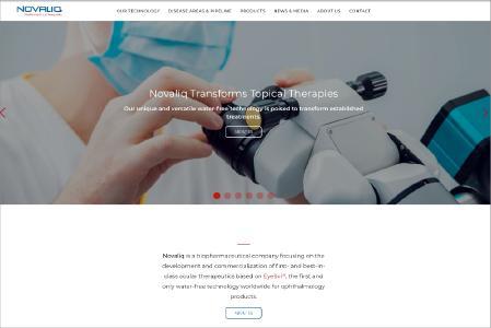Die Novaliq GmbH präsentiert sich und ihre Arbeit auf einer neuen modernen Internetseite.