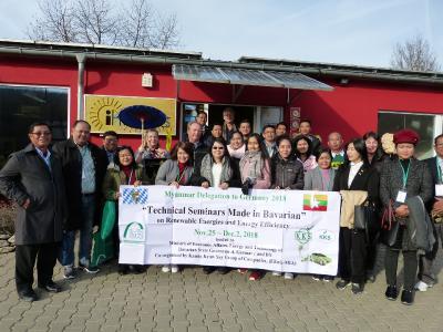 Die Delegation aus Myanmar zu Gast in Weißenohe