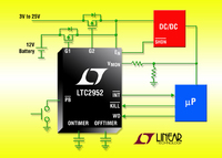 Push Button Controller Integrates Ideal Diode and Supervisory Functions