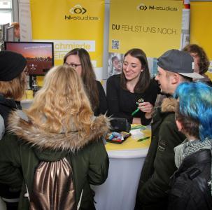 hl-studios auf der Hochschulkontaktmesse 2017 der HS Ansbach (Bild: hl-studios, Erlangen)
