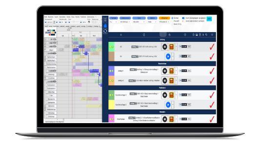 Ein komplettes Zeitmanagement im Betrieb Personalzeiterfassung (PZE), Urlaubsverwaltung, Betriebsdatenerfassung (BDE), Personaleinsatzplanung (PEP), Schichtplanung, Montageplanung alles in einer Software.