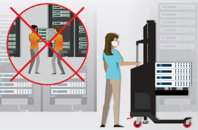 With only one pair of hands and a single ServerLIFT: Safely manage, move, lift and install heavy IT equipment alone