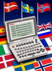 10-sprachiges elektronisches Reisewörterbuch