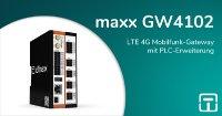 maxx GW4102 - LTE 4G Mobilfunk-Gateway mit PLC-Erweiterung