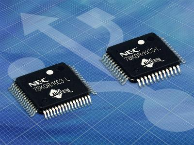 Space-saving 16-bit All Flash(TM)  MCUs with USB 2.0 functionality and ultra-low power consumption