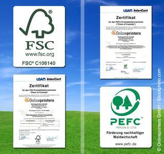 Eco labels of the onlineprinters.com shop