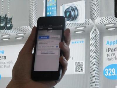 Infinity Shopping Shelf: Produkt scannen, mobil bestellen und in der Wunschfiliale abholen – oder nach Hause liefern lassen