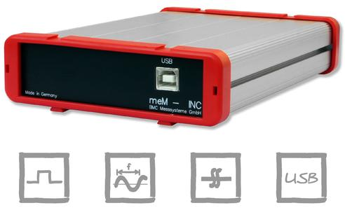 meM-INC: USB device for incremental encoders, pulse and frequency measurement