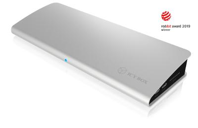 Well connected – ICY BOX Thunderbolt™ 3 DockingStation, winner of the RED DOT Award 2019 in product design category.