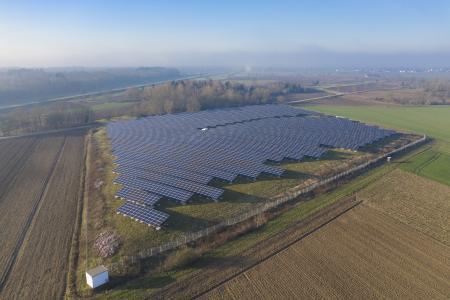 Aerial view of Solarpark Kenzingen