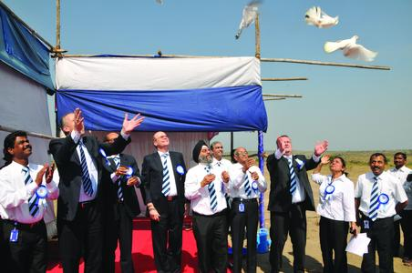 The ASK Chemicals team releases doves