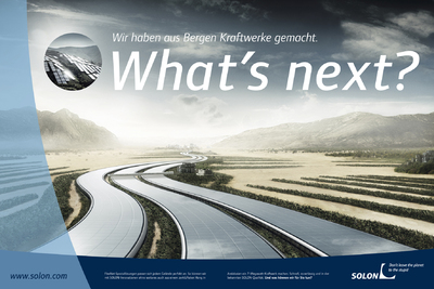 What's next? - SOLON is getting people excited about the future; kick off for global brand campaign