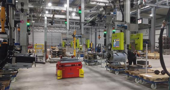 Die Montagelinie bei gigant in Dinklage: Im Zuge der Erweiterung der Produktionskapazitäten wurden die Fertigung und Logistik neu organisiert. Das Manufacturing Execution System von profilsys spielt hierbei eine zentrale Rolle