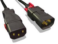 Dem Lockern und Lösen von Stromkabeln durch beidseitige Anschlusssicherung vorbeugen.