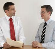 Freuen sich über die positive Bilanz der letzten zehn Jahre: Unternehmensgründer Bernd Woköck (links) und Vertriebsleiter Michael Schreier