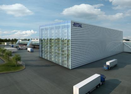 Animation des neuen Zentrallagers oder Global Distribution Centre von Rittal in Haiger im Jahr 2014, Foto: Rittal GmbH & Co. KG