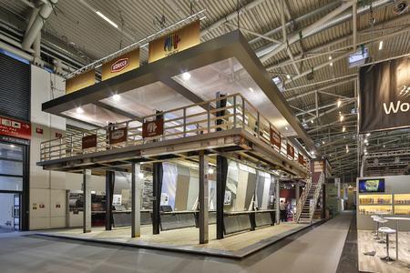 Messestand: Nachhaltigkeit und gestalterische sowie technische Zukunft der Fassadendämmung stand im Fokus, Foto: Caparol Farben Lacke Bautenschutz