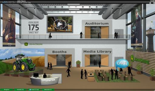 Die virtuelle Eingangshalle der John Deere Karrieremesse