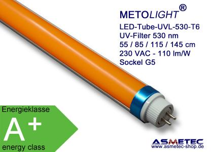 METOLIGHT LED T5T6 Röhren UVL 530 nm mit UV-Filter