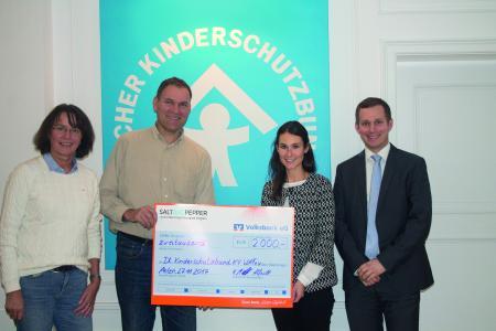 Spendenübergabe beim Deutschen Kinderschutzbund Kreisverband Warendorf e.V.