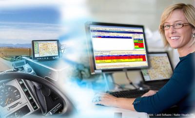 Aus der Internet-Frachtbörse direkt ins Führerhaus: Mit Lavid F.I.S. Logistik werden Aufträge per Mausklick übermittelt