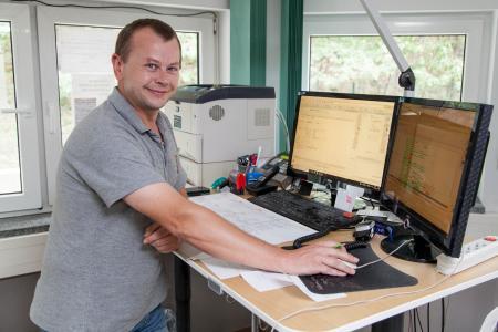 Dirk Bär arbeitet als Hauptdisponent mit der WDV-Software