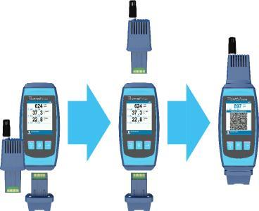 Der Basisgriff CAPBs® device und das Sensormodul AQ 36 erlauben zusammen mit dem optionalen Datenloggermodul verschiedenste, professionelle Langzeitmessungen