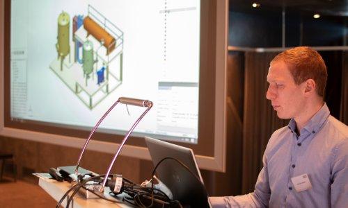 Michael Grüber presented the Smap3D Plant Design software solution.