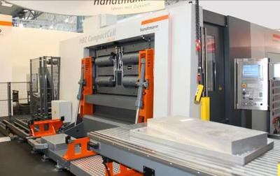 High power cutting: Handtmann attracts visitors by machining an Airbus A330 structural part live at EMO