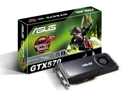 ASUS GTX 570 graphics card with box