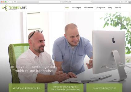 Neue Homepage der formativ.net Internetagentur mit vielen Einblicken ins Agenturleben