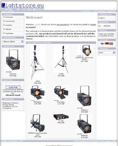 Die Website www.lightstore.eu ist bereits in Deutsch verfügbar; die Produktinformationen werden derzeit gerade ergänzt. Allerdings läuft die Website bis zur ProLight&Sound im Demo-Betrieb: Eingehende Bestellungen werden jedoch noch nicht ausgeführt.