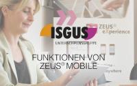 Funktionen der ISGUS App - mobile Zeiterfassung