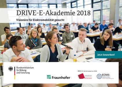 DRIVE-E-Akademie und Studienpreise 2018 - Jetzt unter www.drive-e.org bewerben! / Bild: DRIVE-E / Uli Regenscheit