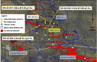 Maple Gold defines new Nika Gold Zone with initial drill results from gap area between Porphyry, Douay West and NW zones