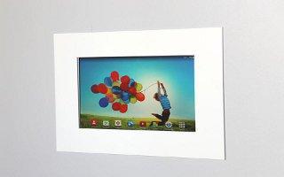 TabLines TWE003 Tablet Wandeinbau Samsung Galaxy Tab 4 10.1, weiß
