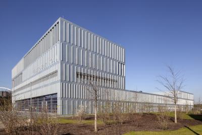 Zweiter Preis Architektur: Feuerwehrzentrum Köln-Kalk von Knoche Architekten BDA und Schrag Fassaden GmbH. (Foto: Frauke Schumann)
