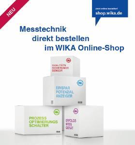 WIKA hat seinen neuen Online-Shop eröffnet: Unter shop.wika.de können Kunden eine Vielfalt an Produkten ab sofort rund um die Uhr direkt vom Hersteller beziehen
