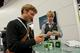 Lots of visitors at the Chillventa trade fair gave the BITZER Rubik's Cube a go
