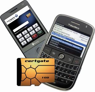 BlackBerry with certgate Smart Card microSD