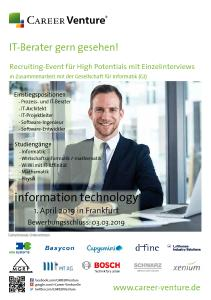 CAREER Venture information technology spring 2019